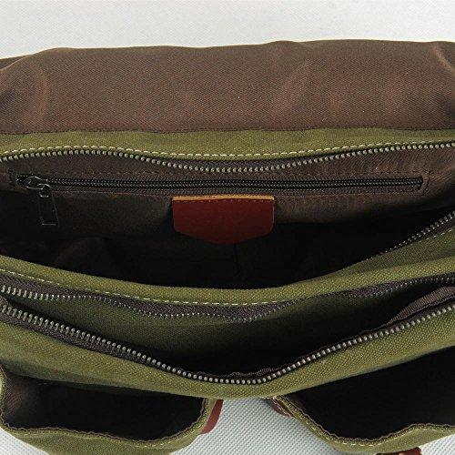 Europa e negli Stati Uniti gli uomini e donne Leisure messenger bag pacchetto pacchetto borsa di tela, dark gray Green