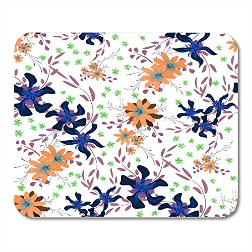 Pansy Chintz (Deglogse Gaming-Mauspad-Matte, Little Flowers with Cute Daisy and Pansies Girlie in Rustic Style for Linen Chintz Spring Rapport Mouse Pad,Desktop Computers Mouse Mats,)