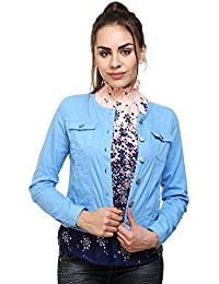 MansiCollections Blue Corduroy Jacket for Women