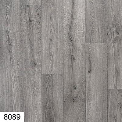 8089-Atlas 4 mm Thick Premium Grey Wood effect Anti Slip Vinyl Flooring Home Office Kitchen Bedroom Bathroom High Quality Lino Modern Design 2M 3M 4M wide and upto 10M length (Elegance) - inexpensive UK light store.