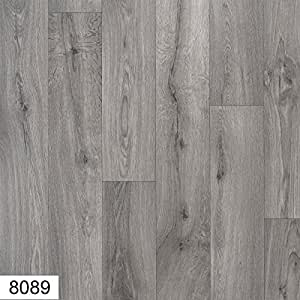 8089 atlas 4 mm thick premium grey wood effect anti slip for Wood effect vinyl flooring bathroom