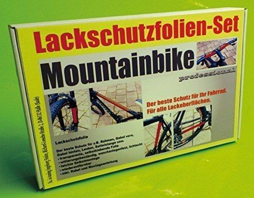 Lackschutzfolien Set transparent für Fahrrad Mountainbike, 24 Teile Lackschutz Steinschlagschutz Rahmenschutz