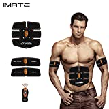 IMATE EMS Remote Control Exercising Pads, Arms/Bottom/Thigh/Abdominal Muscle Toner Body Toning Belt Muscle Trainer Wireless Home/Office/Outside Fitness Apparatus Unisex Support for Men & Women