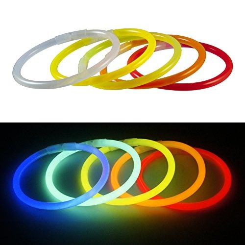 confronta il prezzo Rhino GlowLuces de las estrellas , 100 Partes que se glowsticks luz palos Glow Stick 5 colores Set + conector miglior prezzo