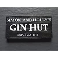 Personalised Wooden Gin Hut Sign | Shed | Plaque | Gift