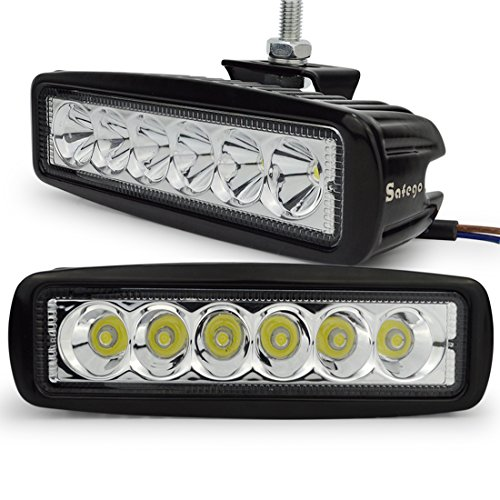 Safego L18W-BH-SP-2 LED Luce da Lavoro Lampada Spot Bar Nebbia