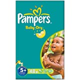 Pampers Baby Dry taille 5 + (13-27 kg) 2x48 par paquet gros paquet Junior Plus