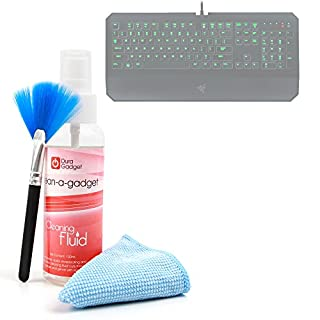 Razer DeathStalker/Blackwidow (Pear, Paper Brush, Cloth, Cleaning Wipes for Chroma Accessories, Klim Chroma, Advance cla-g866& 1Byone Gaming Keyboards