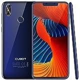 CUBOT P20 (2018) 4G Network Pantalla 18:9/6.18' Diseño El Fin de los Bordes Android 8.0 Dual Sim Teléfono Libre, Batería 4000 mAh, 4GB + 64GB, Dual Cámara, Octa-Core, WiFi, Bluetooth,GPS, Azul