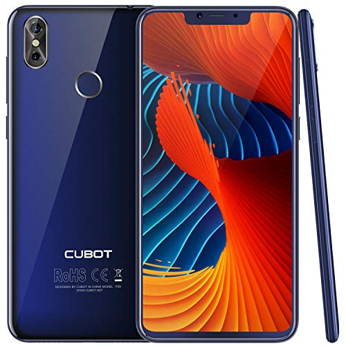 "CUBOT P20 (2018) 4G Network Pantalla 18:9 / 6.18""Diseño El fin de los Bordes Android 8.0 Dual Sim Teléfono Libre, Batería 4000 mAh, 4GB + 64GB, Dual Cámara Trasera 20MP+2MP / Frontal 13MP, Procesador Octa-Core MT6750T , Wifi, Bluetooth,GPS, Azul【CUBOT OFICIAL】"