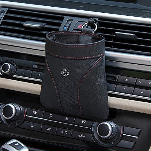 inebiz echtes Leder Auto Konsole Air Vent Outlet hängende Aufbewahrung/Tasche/Beutel/Box Gute für die Organisation Handy/Gläser/Stifte/Schlüssel/Münzen (Auto-konsole-organisation)