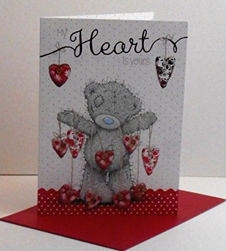 me-to-you-my-heart-is-yours-valentines-drapierung-in-herzen-karte-tatty-teddy-bar