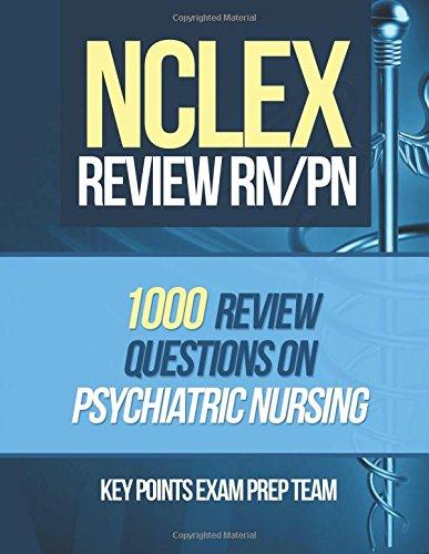 NCLEX Review RN/PN: 1000 Review Questions on Psychiatric Nursing: Volume 1
