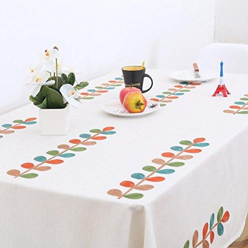DACHUI Tischdecke einfach sauber Clips aus Baumwolle Bettwäsche Nachmittagstee Rechteck waschbar Abendessen für Parteien Esszimmer Garten Hotel Cafe Restaurant Geburtstag-A 130 x 300 cm (51 x 118 cm Wischen)