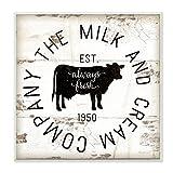 Stupell Industries Milch und Company Vintage Schild, Kunst, Mehrfarbig