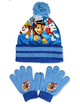 Nickelodeon - Set de bufanda, gorro y guantes - para niño Azul azul