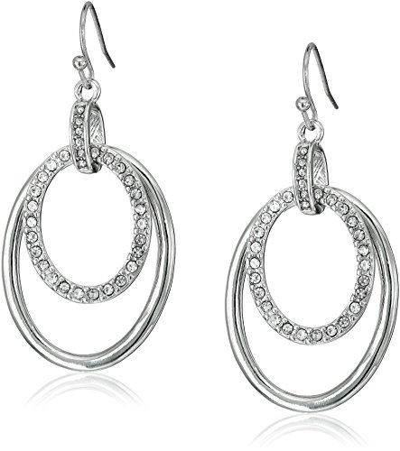 t-tahari-oval-pave-links-on-wire-silver-drop-earrings