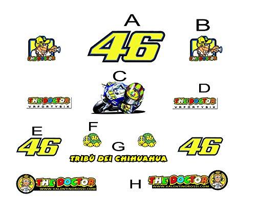 Ecoshirt 8R-SGG7-ZPRK Pegatinas Tribu del Chihuahua 46 AM8 Moto GP Stickers Aufkleber...