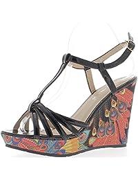 Amazon.es  ChaussMoi - Sandalias de vestir   Zapatos para mujer ... a5d54bee55c4