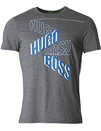 Hugo Boss Boss Green Tee 2 Logo T-Shirt Dark Grey 50372453