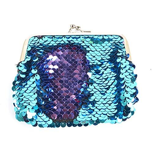 Bolso mano mujer lentejuelas sirena reversibles purpurina