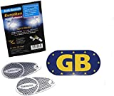 Anti-Scorch Headlight Adaptors With GB Euro Plate