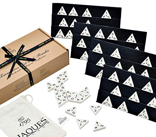 Triangle Dominoes - Regulation Size Complete Triangle Dominoes with FULL Rack Set - Inc. FREE Storage Bag - A Fantastic Game of Tri Domino Tiles for Players of all Ages