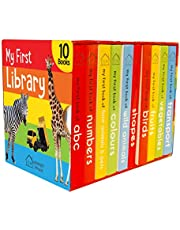 My First Library Boxset of 10 Board Books for Kids