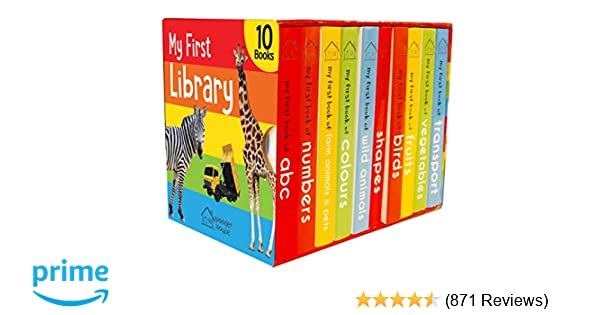Buy My First Library: Boxset of 10 Board Books for Kids Book