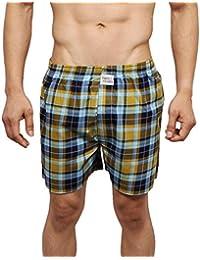 Neska Moda Men's Premium Elasticated Cotton Yellow Boxer With 1 Back Pocket-MFN-XB57