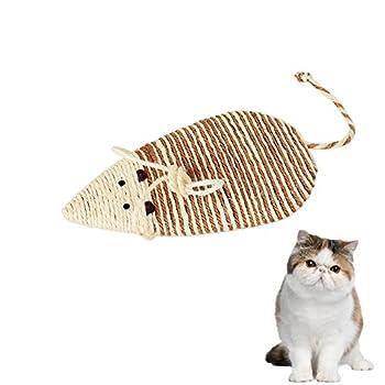 Naturel Sisal Grattoir , Planche à Gratter pour Chats,Mignonne En forme de souris