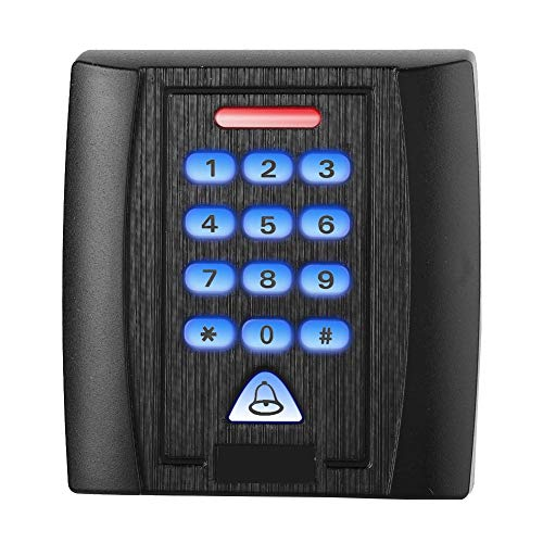 Tür Access Control System, 125 kHz DC 12V Access Control Keypad Metall Codeschloss Türöffner, EM-ID Karte Passwort Tür Security Entry System mit Nein/NC Relais Signalausgang (Tür-entry-system)