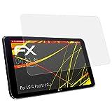 atFolix Schutzfolie kompatibel mit LG G Pad II 10.1 Bildschirmschutzfolie, HD-Entspiegelung FX Folie (2X)