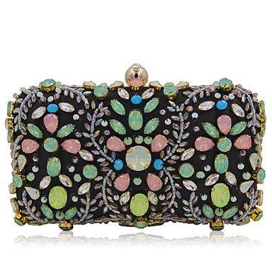 Woman Fashion Luxus Hochwertige Nachahmung Diamanten Abend Tasche Black
