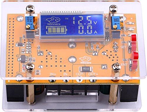 Preisvergleich Produktbild Yeeco DC-DC Einstellbare Buck-Spannungswandler Stabilizer 7-40V zu 1.5-35V 10A LCD Display Constant Volt Ampere 4V 6V 12V 14V 24V Step Down Spannungsregler Power Module Voltmeter Amperemeter mit Schutzhülle