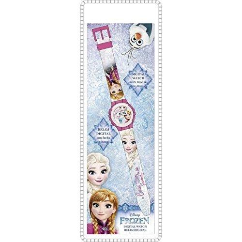 Disney Frozen- Reloj de pulsera digital, unica Kids Euroswan WD17823