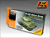 AK Interactive OLIVE DRAB Color Set 131