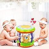 LIPENG-TOY Baby Musik Handtrommeln Kinder Pat Drums Wiederaufladbare Früherziehung Puzzle 1 Jahr 0-6-12 Monate Baby-Spielzeug (Farbe : Green)