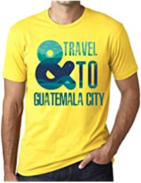 Hombre Camiseta Vintage T-Shirt Gráfico and Travel To Guatemala City Amarillo