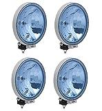 LKW 4x12/24 V Zusatz Fernscheinwerfer Halogen Blau Rund Neu Hochwertig Klar