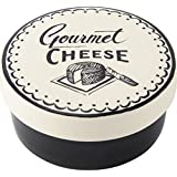 Tapas creativas 12,7 cm de gres de queso camembert, crema/negro