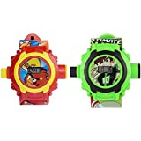 Vishwakarma Enterprises Angry Bird & Ben 10 Projector Watch For Boys & Girls