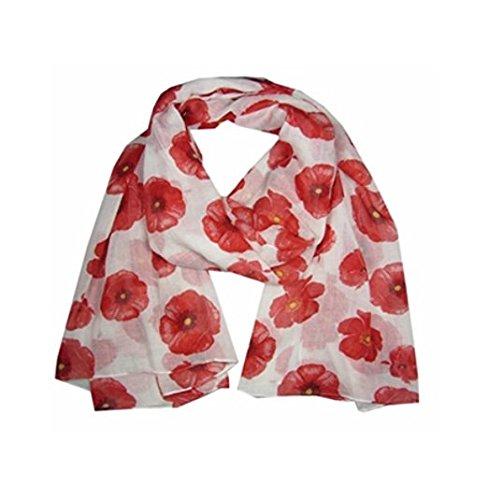 Schal Schals Wunderschöne Damen Mohn Blumen Blume Mode Mode Schal Minzhi