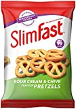 SlimFast Sour Cream Pretzel Snack Bag 23g - Pack of 12