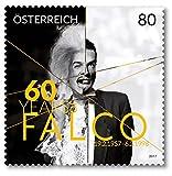 Falco |60. Geburtstag | Österreich |Briefmarke |postfrisch |Sänger |Sonder-Briefmarken |US-Charts |Popstar
