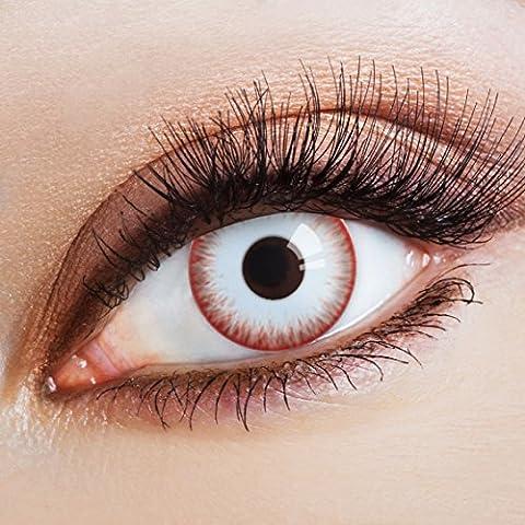 aricona Farblinsen – deckend weiß – farbige Kontaktlinsen ohne Stärke – Zombie Night Augenlinsen für Halloween, bunte 12 (Cats Musical Halloween Kostüme)