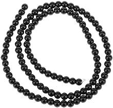 Negro Redondo Onyx Onix Piedra Preciosa Suelta Cuentas Abalorios Hebra 4mm14.5In