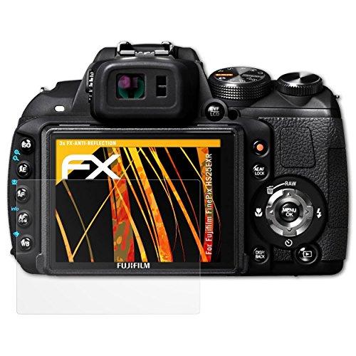 atFoliX Panzerfolie kompatibel mit Fujifilm FinePix HS25EXR Schutzfolie, entspiegelnde und stoßdämpfende FX Folie (3X)