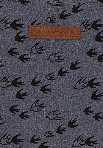 Naketano Female Shortsleeve Wolle Will Vögel (n) VIII Dark Ash Melange