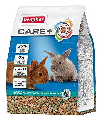 beaphar Care+ Kaninchen Junior | Fördert den gesunden Zahnabrieb | Kaninchenfutter bis zum 10. Lebensmonat | Mit Alfalfa, Vitamin A, Kalzium | 1,5 kg